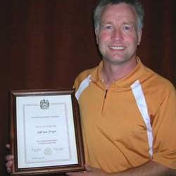 Adrian Recieves Fellow Of P.G.A. Award